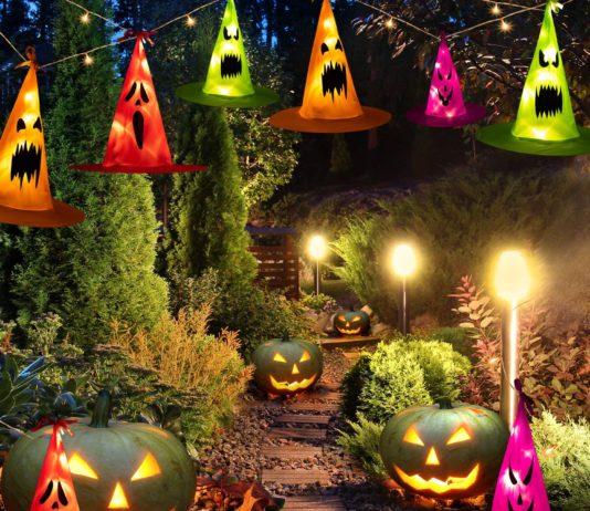 outdoor halloween lighting ideas